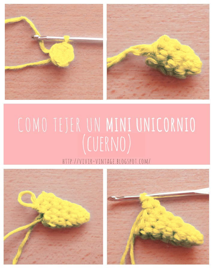 mini unicornio amigurumi foto tutorial