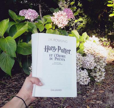 Lifestyle sélection spécial été dans ma valise cet été livres PAL Harry Potter l'Ordre du Phoenix J.K Rowling Coin des licornes Blog littéraire Toulouse