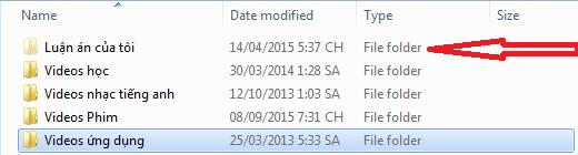 Các File hay Folder bị mờ