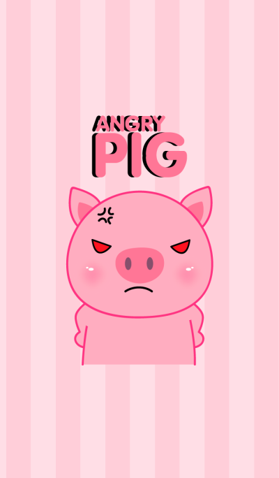 Angry Pink Pig Icon Theme