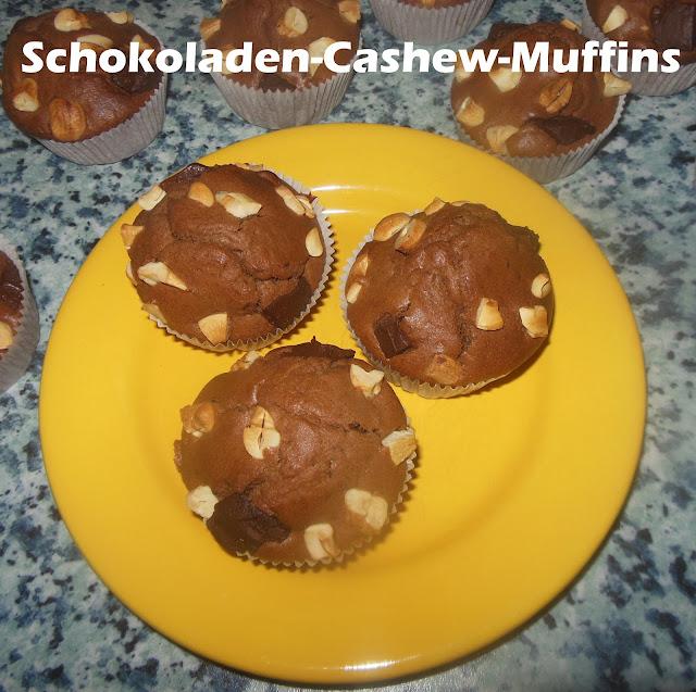 gl cksmomente in der k che rezept schokoladen cashew muffins. Black Bedroom Furniture Sets. Home Design Ideas