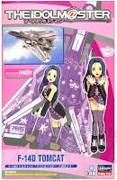 """F-14 Tomcat Idolm@ster """"Azusa Miura""""."""