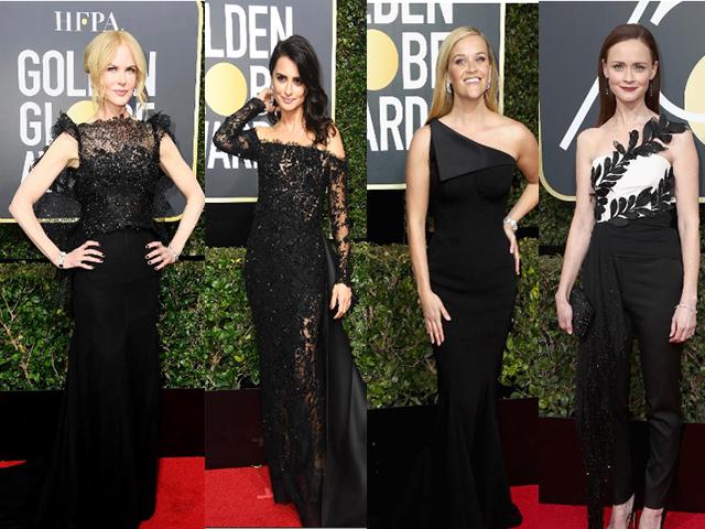 Conheça os looks negros das celebridades no Golden Globe 2018