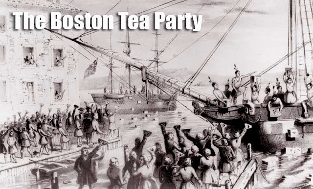 Gambar ilustrasi The Boston Tea Party