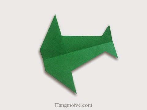Cách gấp, xếp máy bay chim én bằng giấy origami phi xa cao, bay lâu mãi không rơi  - Video hướng dẫn xếp hình máy bay - How to fold a paper airplane 8