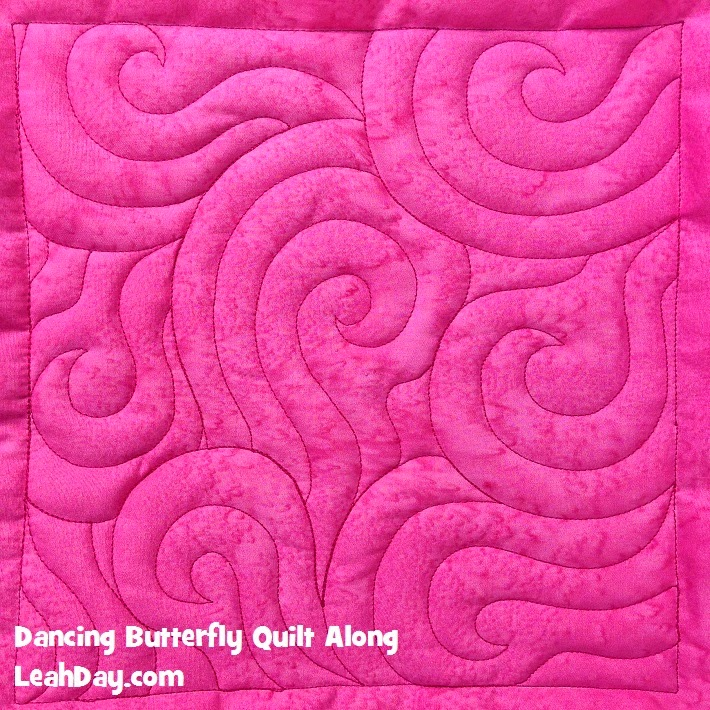 butterfly quilt | free motion quilting
