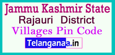 Rajauri District Pin Codes in Jammu kashmir State