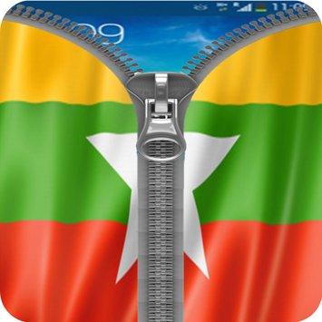 ဖုန္းထဲ႕မွာ ျမန္မာ အလံျဖင္႔  Lock  ကုိ အလွဆင္ႏုိင္မယ္႔  Myanmar Flag Zipper Lock v1.0 Apk