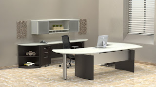 Mayline Medina Two Tone Office Furniture Set