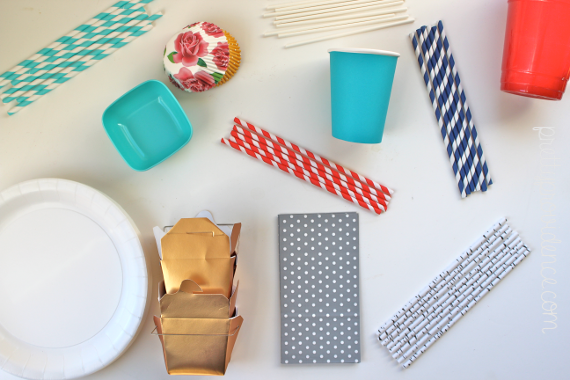 sources for cheap striped straws, how to start a party supply stockpile and why you should have one!
