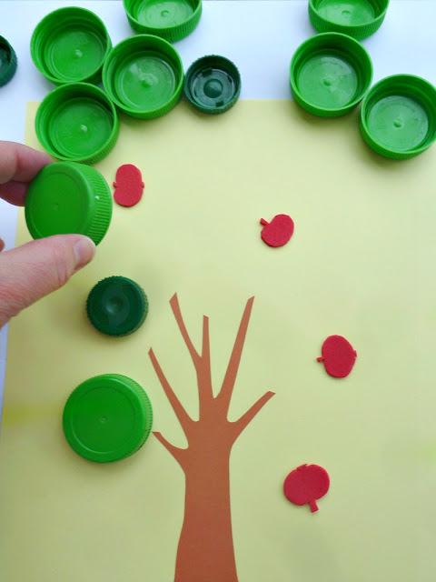 otroška igra naredi sam - jabolka