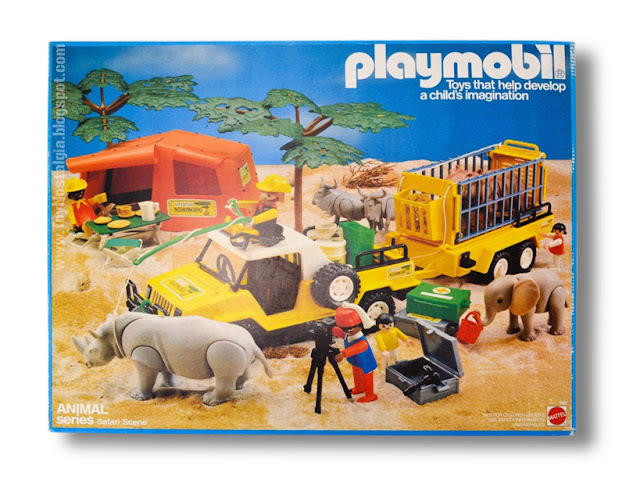 Playmobil Mattel Animal Series Safari Scene front box