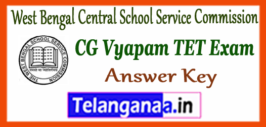 WBSSC West Bengal Central School Service Commission Headmaster Answer Key 2017