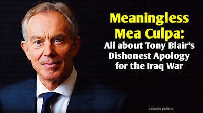 Blair UK Prime Minister Iraq