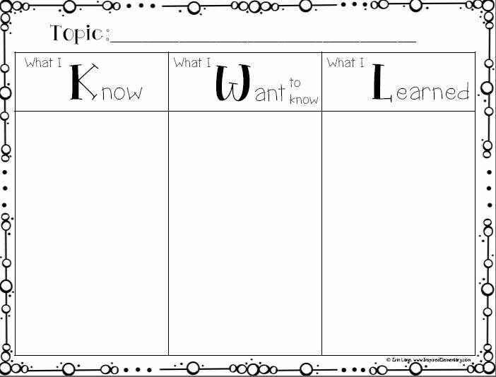 KWL Chart Inspired Elementary
