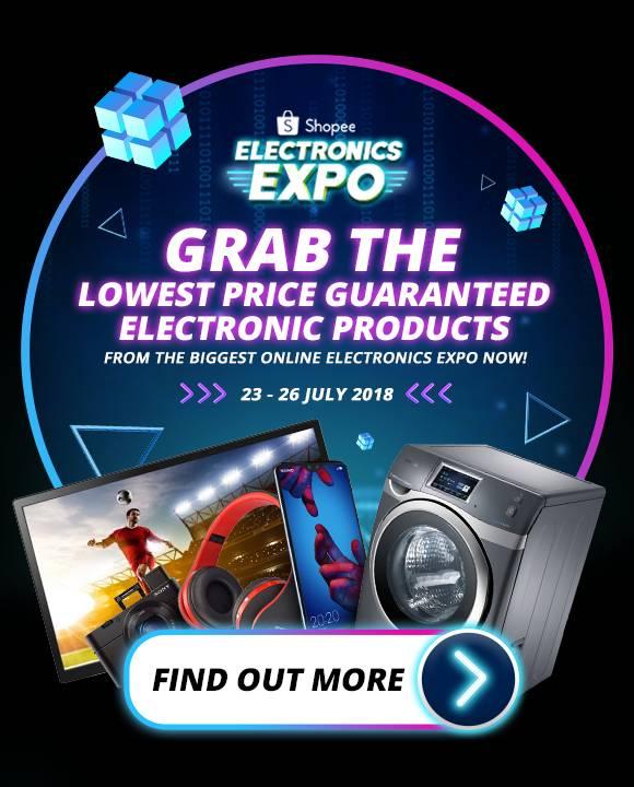 Shopee Adakan Potongan Harga Terendah Sempena Ekspo Elektronik Shopee Julai Ini