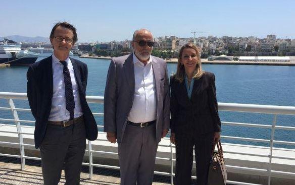 Συνάντηση του ΥΝΑΝΠ, Παναγιώτη Κουρουμπλή, με την πρέσβη της Δημοκρατίας της Χιλής στην Αθήνα, Pia Busta