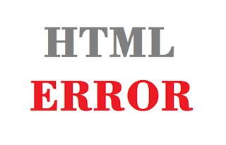 how to fix Blogger html error