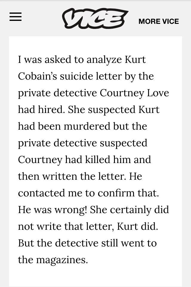 Soaked in bleach debunked the truth about kurt cobains death excerpt vice article written in the writing from expocarfo