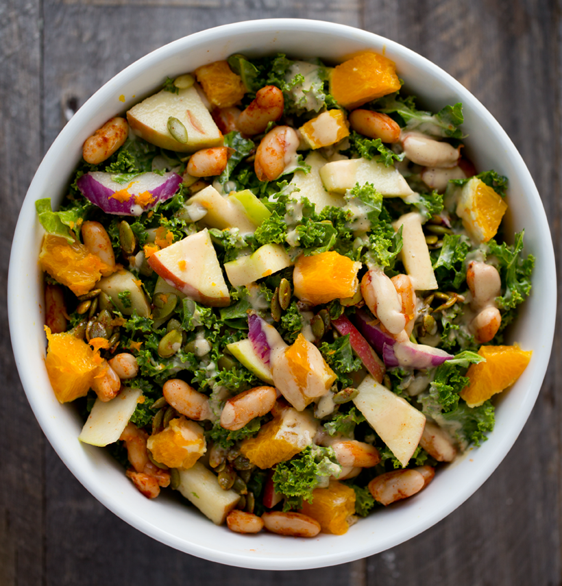 Fall Raw Kale Salad