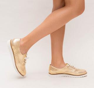 Pantofi Casual Amis Aurii ieftini de toamna