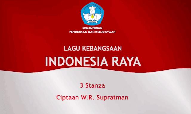 Lirik Lagu Indonesia Raya 3 Stanza Vokal