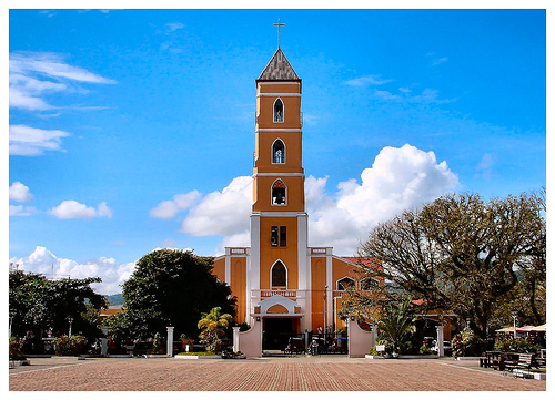 Sto Nino Church in a sunny day.