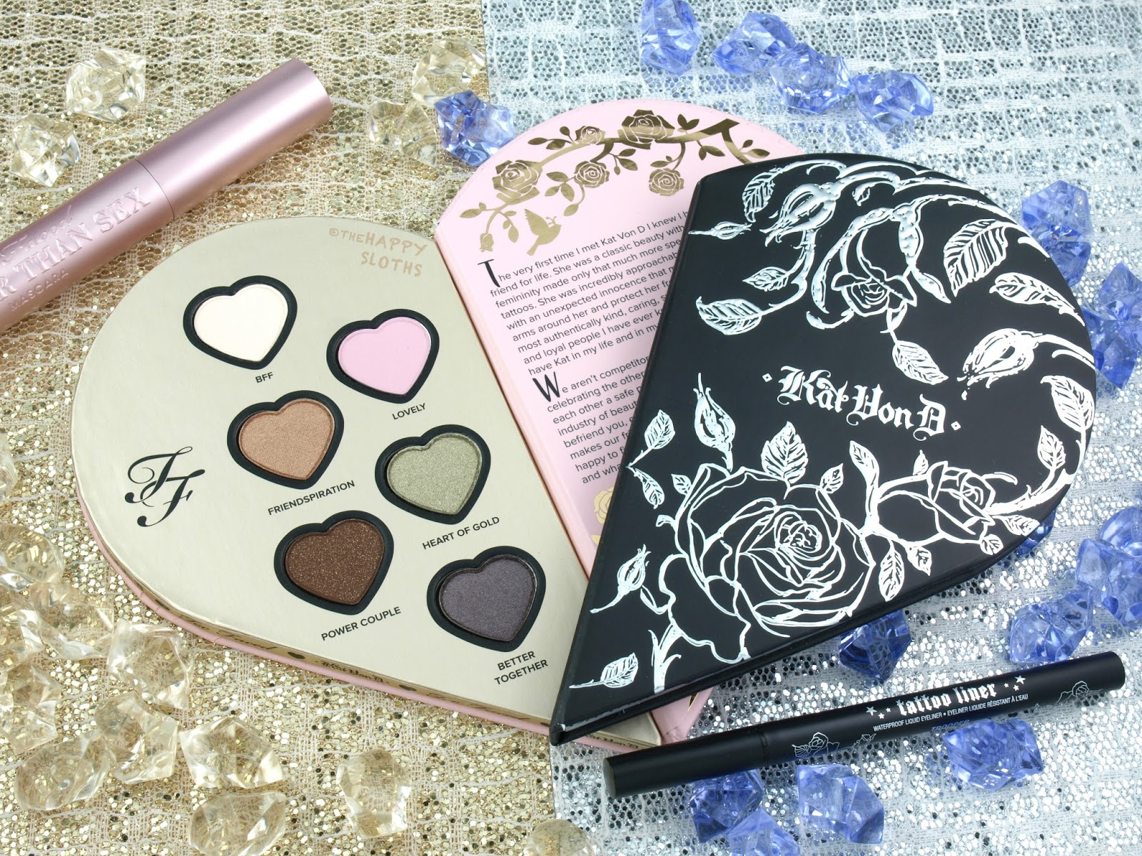 Too Faced x Kat Von D Better Together Ultimate Eye Collection Review Swatches