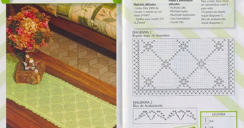 Camino de mesa al crochet con patrones | Crochet y Dos agujas ...