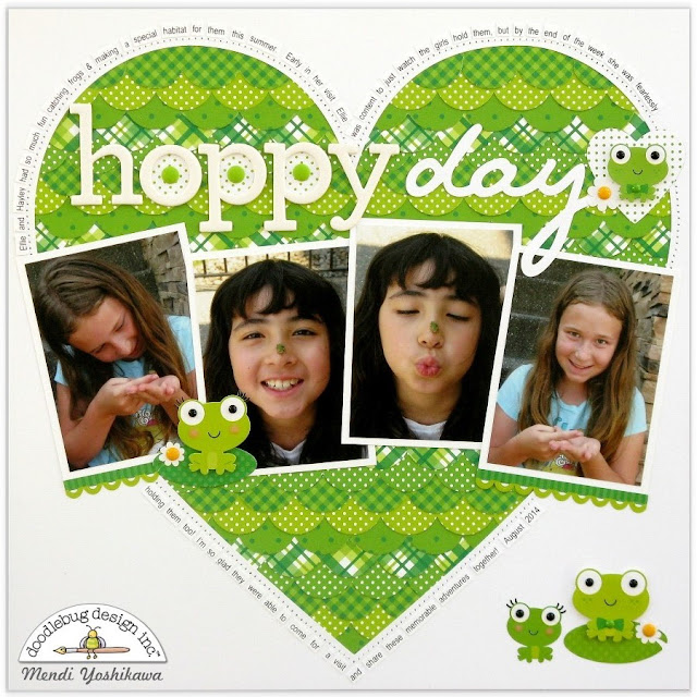 Doodlebug Pot O' Gold Frog Themed Layout by Mendi Yoshikawa