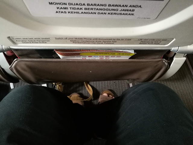 Spacious leg room batik air