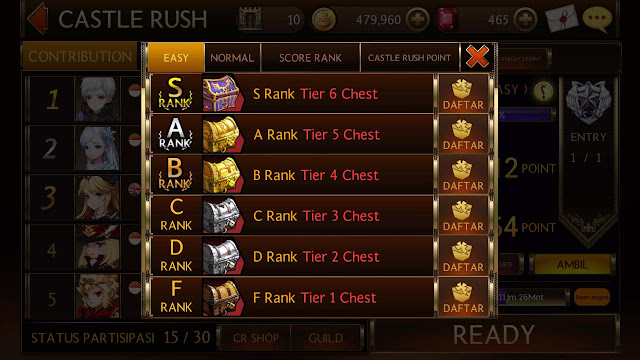 cara dapat gold dari castle rush