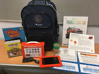 Go! Kit with backpack, playaway launchpad, DVD, book & folder