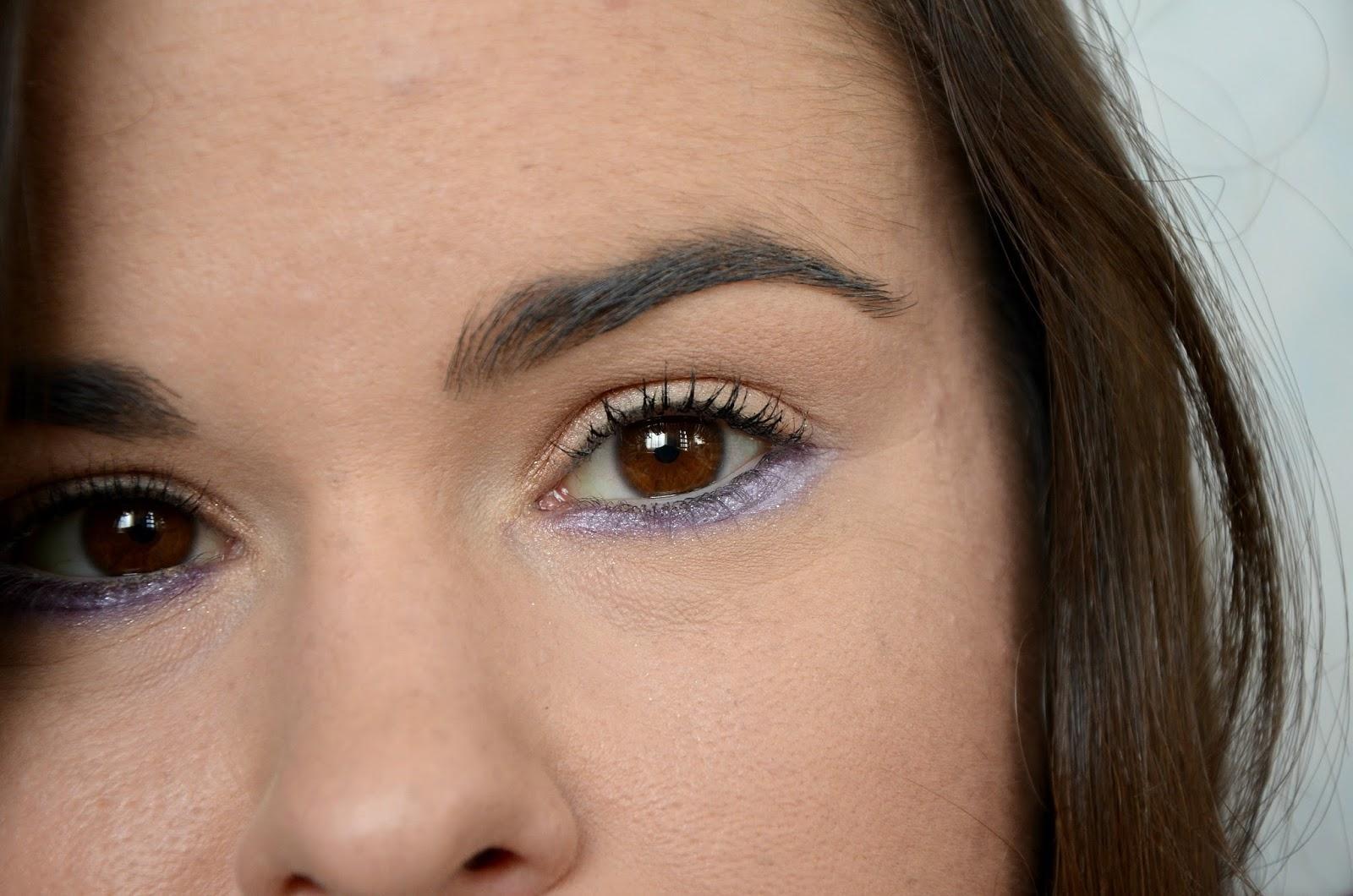 Monday Shadow Challenge pailettes violettes zoom oeil