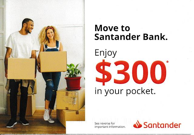 Santander New Customer Postcard