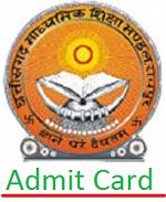 CG Board 10th Admit Card 2017