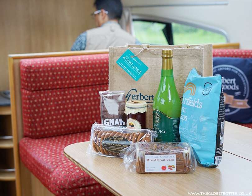 Herbert Woods Welcome Bag filled with yummy local goodies