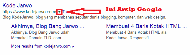 Contoh Arsip di Google