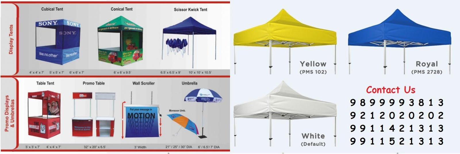 Advertising Canopies Promotional Canopy Advertising Tent Marketing Stalls Table Canopy Delhi  sc 1 th 130 & Promotional Canopy Tent Advertising Tent Manufacturers ...