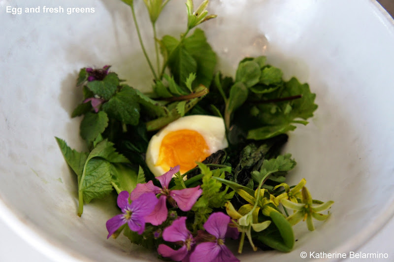 Egg and fresh greens noma Copenhagen Denmark
