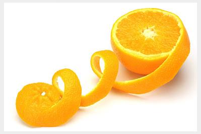 orange peels lightening the dark underarms