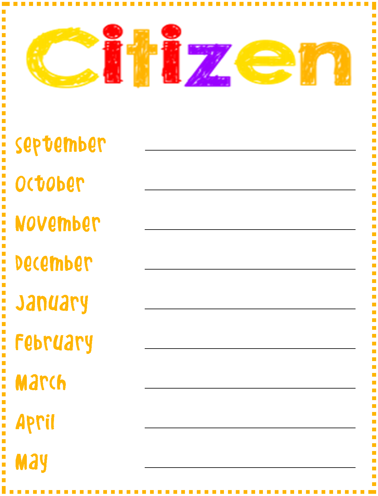 good citizenship clipart - photo #18