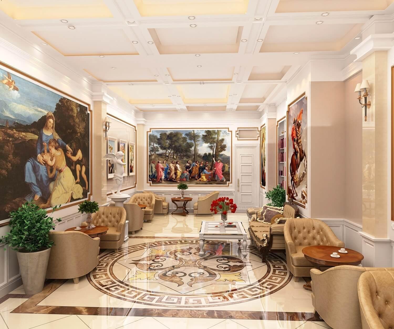 Không gian hoàng gia tại dự án chung cư cao cấp Deldorado Phú Thượng.