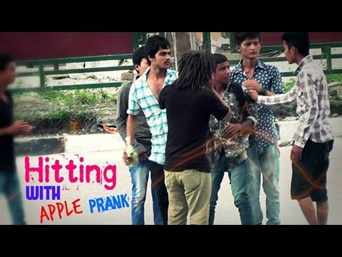 Nepali Prank - Hitting with Apple Prank