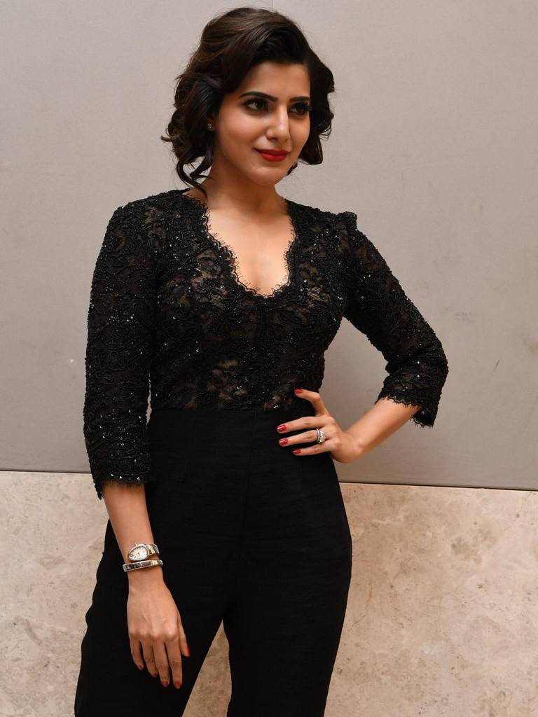 Samantha Photos In Black Dress