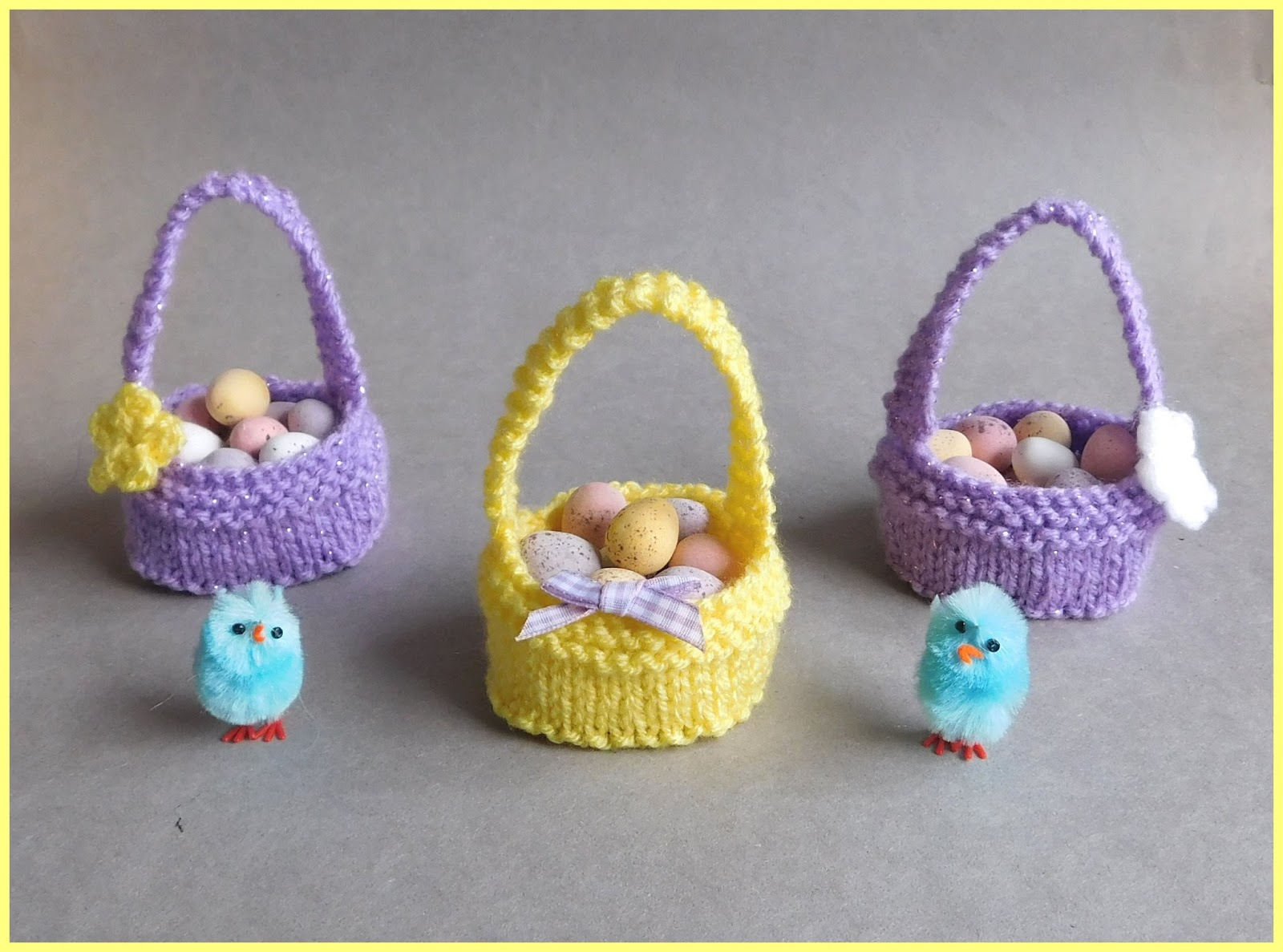 Letter Knitting Patterns : mariannas lazy daisy days: Sweet Little Easter Baskets