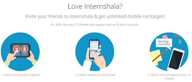 Eran Unlimited Free Recharge From Internshala_frickspanel