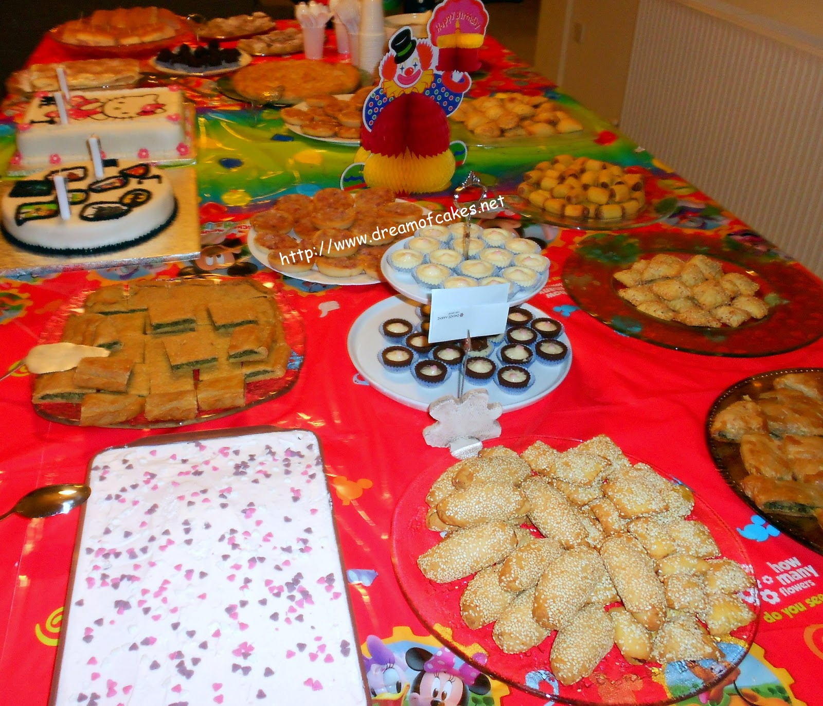 Dream Of Cakes: Birthday Party Buffet