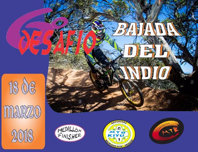 MTB - Bajada del indio en Kiyú (San José, 18/mar/2018)