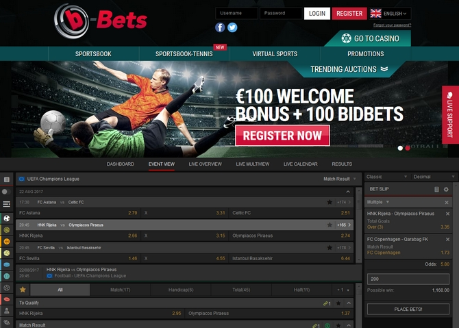 b-Bets Screen